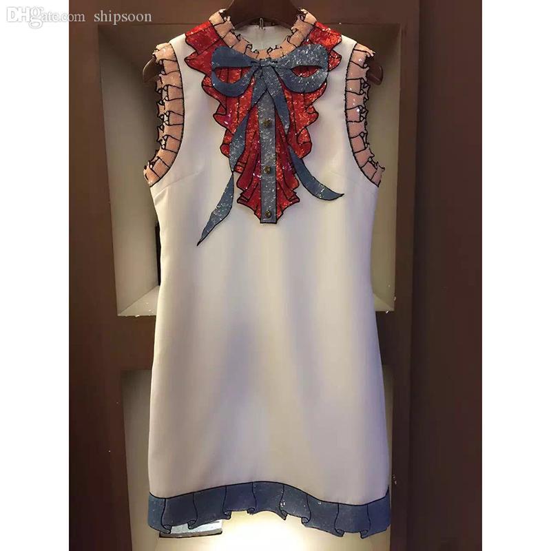 Wholesale-haute qualité nouvelle mode 2016 robe de piste d'été 2016 robe de luxe de luxe de luxe pour femmes