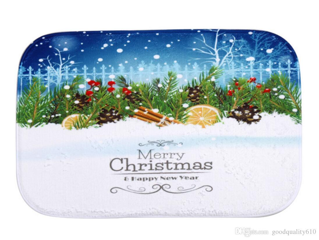 40*60cm Snowflake Christmas Bath Mats Anti-Slip Rugs Coral Fleece Carpet For For Bathroom Bedroom Doormat Online