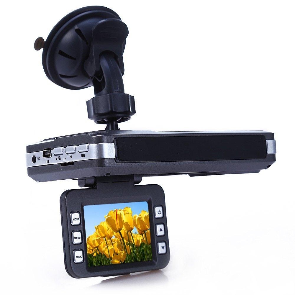 Nouvelle Voiture DVR Détecteur de Radar HD 2 pouce LCD Russe Voix avec Laser Logger vision nocturne 5 millions de pixels capteur CMOS Caméra