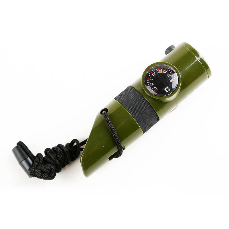 Оптовая кемпинг спасательный военный стандарт армии вентилятор многофункциональный открытый термометр с судья свисток