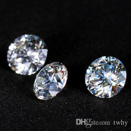 Most Brilliant F Color 6.5mm Round Shape White Moissanite Stones Synthetic Loose Moissanite Gemstone Beads Diamond Test Positive