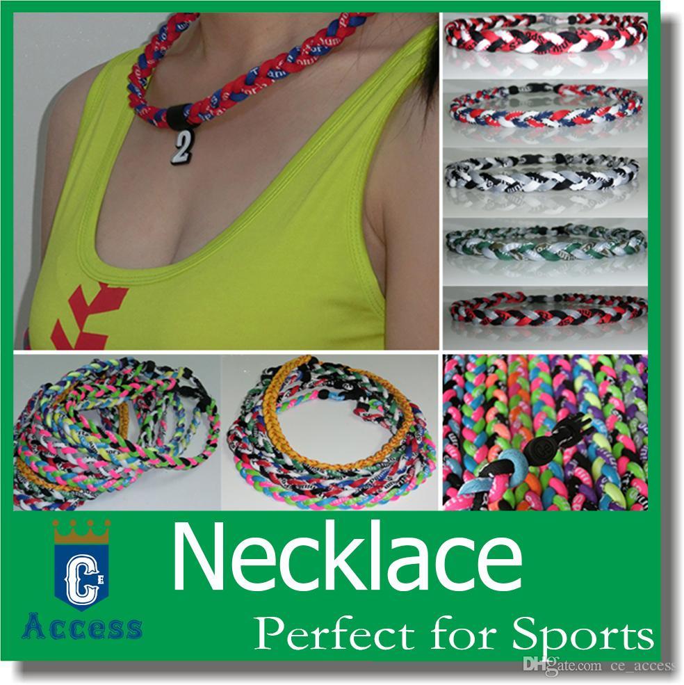 Nieuw product 3 touwen Tornado Sports Gezonde Kettingen Titanium Necklace Armband