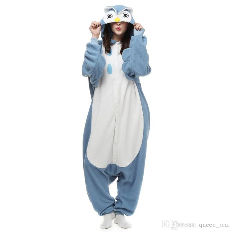 Yeni Fabrika Marka Sıcak Satış Yetişkin Baykuş Pijama Unisex Pijama Severler Onesie Pijama Gece Baykuş Cosplay Elbise Karikatür Hayvanlar Baykuş Tulum