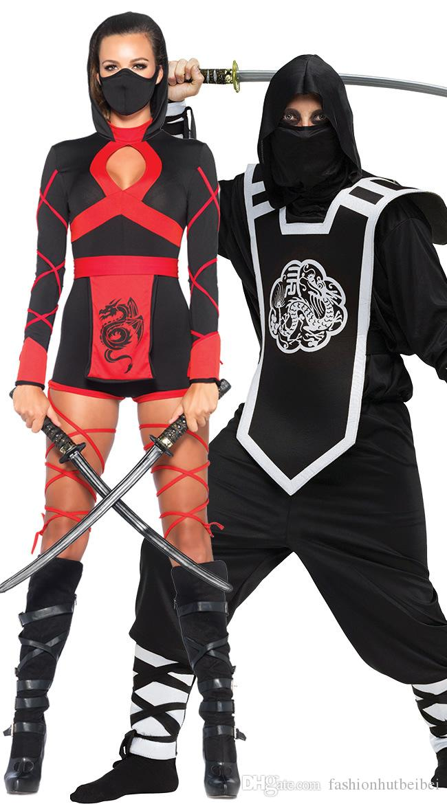 ... Ninja Costume Couple Costume Masquerade Party Halloween Costumes for Women Adult Men Ninja Samura Assassins Costume ...  sc 1 st  DHgate.com & Ninja Costume Couple Costume Masquerade Party Halloween Costumes For ...