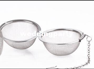 1000pcs / lot gros diamètre inoxydable 4.5cm boule de tamis à thé Spice Ball Strainer Ball