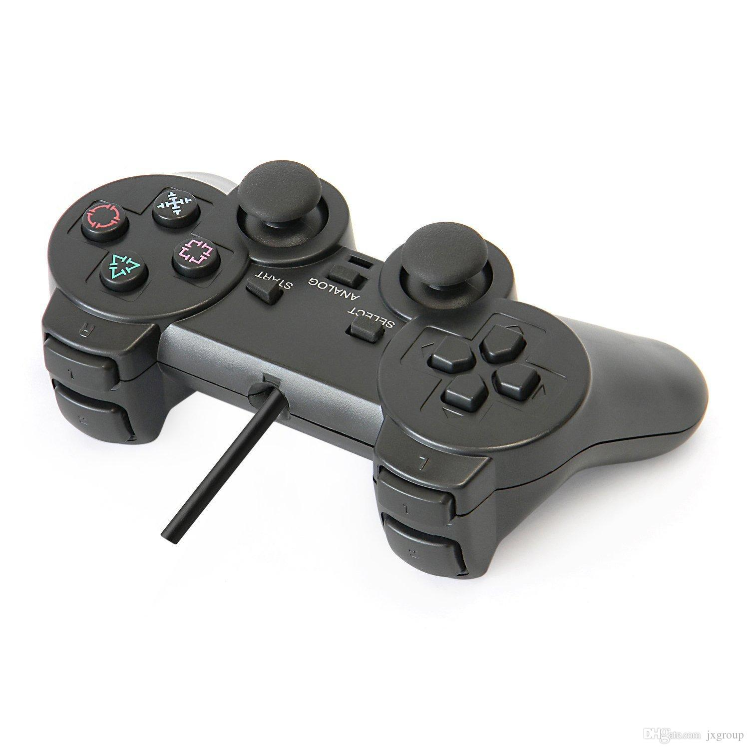 50PCS/Lot PS2 Wire Controller for Sony PlayStation 2 Black color ...