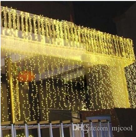 1024 LED 8m * 4m rideau allume la lumière d'ornement de Noël, éclair de mariage féerique LED lumières colorées imperméable