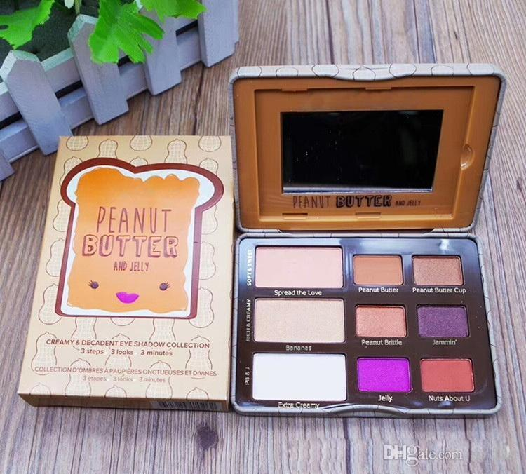 New Arrival Makeup Faced Peanut Butter & Jelly Palette Eye Shadow Palette 9 color eyeshadow palette DHL shipping