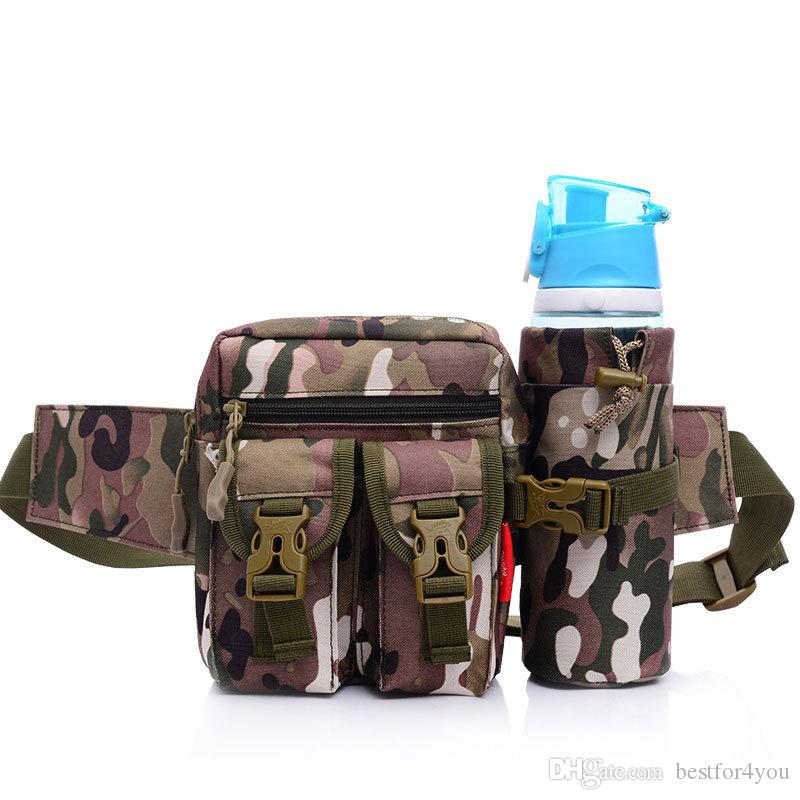 Waist Pack for Outdoor Sports, Fanny Pack Outdoor Sports Waist Bag/Belt Adjustable Strap Waist Bag Pack with Water Bottle Holder Bag Pocket
