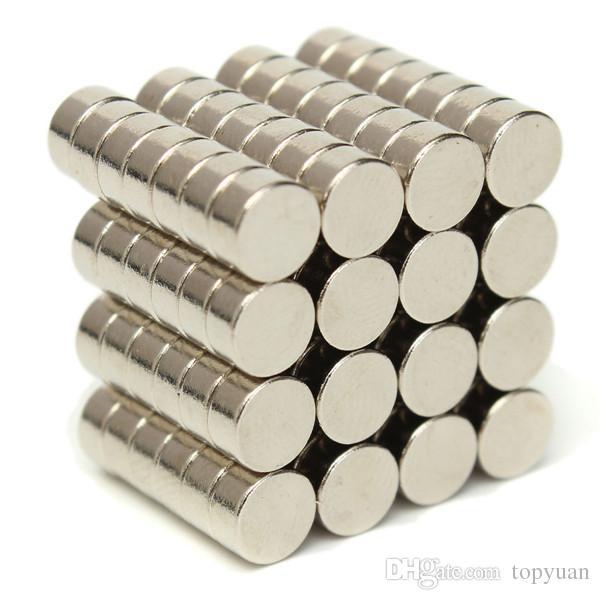 100pcs aimants super puissants N50 de disque aimants au néodyme de terres rares 6mm x 3mm