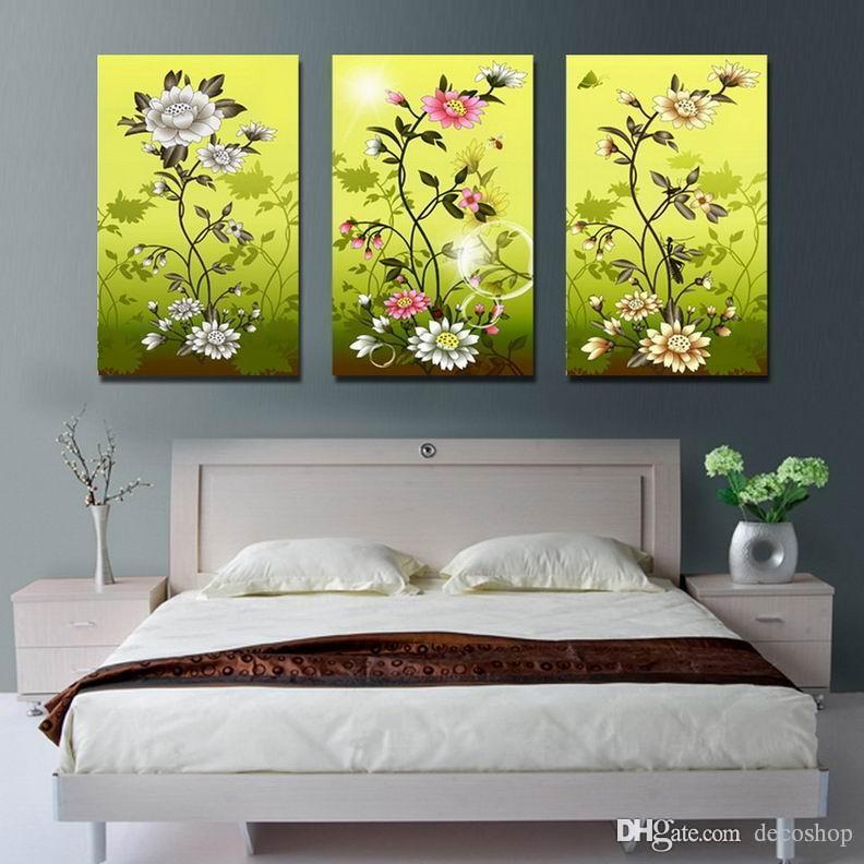 현대 아름 다운 꽃 괜 찮 아 요 꽃 그림 캔버스에 Giclee 인쇄 홈 장식 벽 예술 Set30303