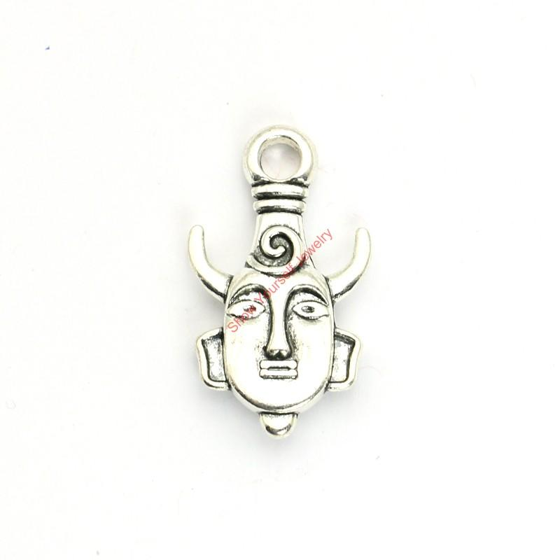 5pcs Antique Silver Plated Supernatural Dean Winchester Amulet Charms Pendants for Jewelry Making DIY Necklace Craft 35X20mm