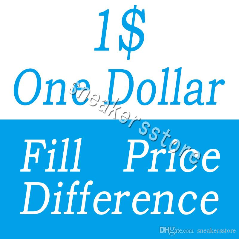 One Dollar Fill Price Difference payment for DHL EMS different extra cost diferent shipping fee etc