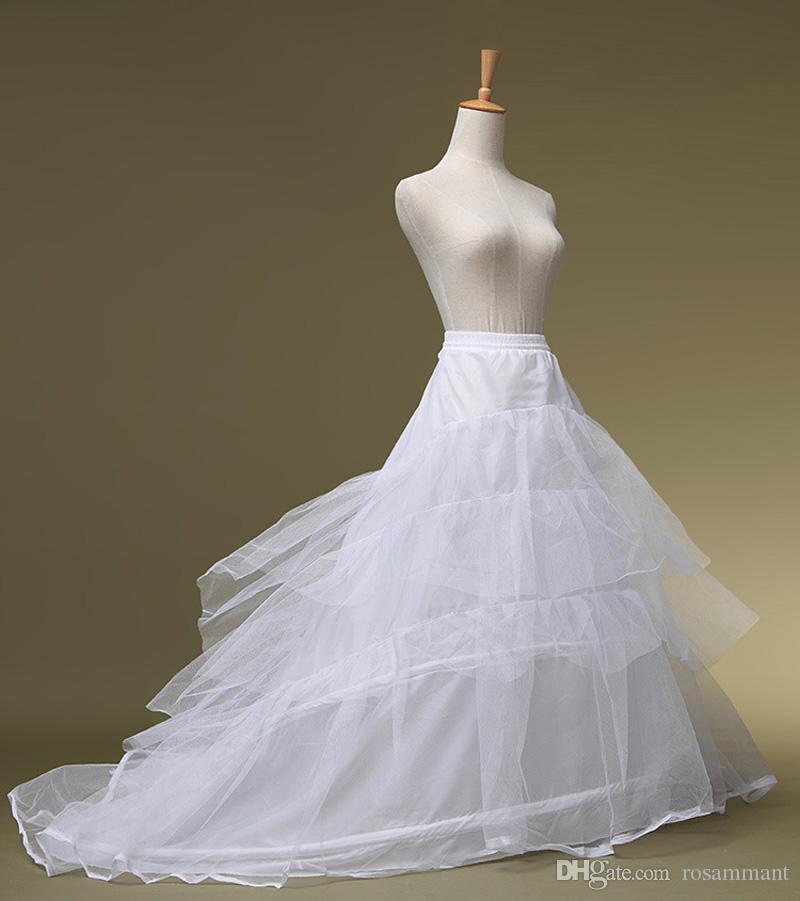 Новые дешевые свадебные нижние юбки слои тюль кринолин для платьев с поездом свободный размер свадебные платья нижняя юбка