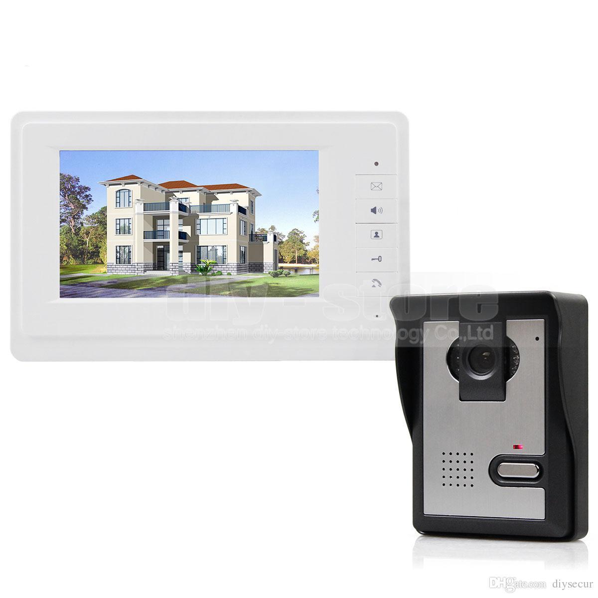 DIYSECUR Video Door Phone Intercom 600TVLine HD CCD Camera High Quality 7 inch TFT Color LCD Display Doorbell Night Vision V70F-L