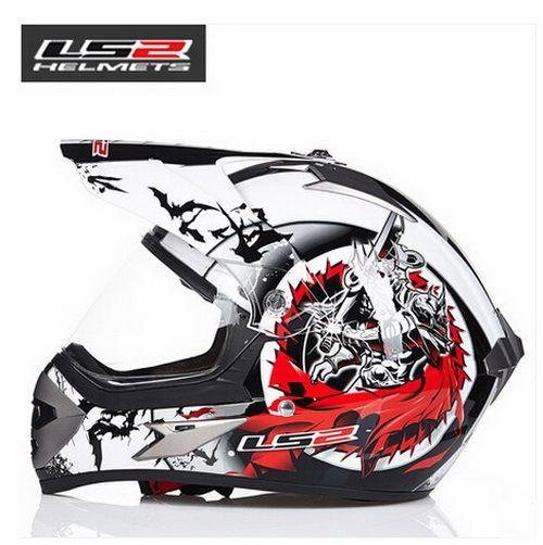 LS2 전문 오프로드 레이싱 오토바이 헬멧 MX433 크로스 컨트리 스포츠 유틸리티 차량 오토바이 RAN 헬멧 ABS 렌즈로 만든 헬멧