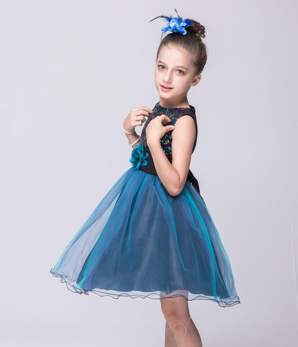 2018 2016 Baby Girls Holidays Dress Sleeveless Girl\'S Prom Dresses ...