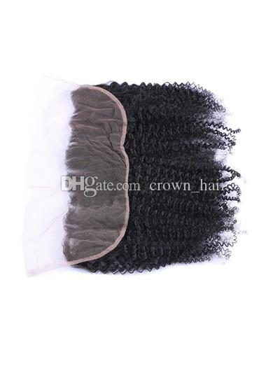 Hot Selling 13x4 Ear To Ear Full Lace Frontals With Baby Hair Afro Kinky Curly Virgin Human Hair Lace Frontal Closure Free Shipping