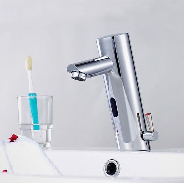 Fechamento automático torneira digital torneira da bacia automática torneira da bacia de latão torneira eletrônica torneira do sensor digital torneira deck de montagem torneira