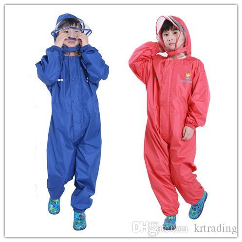 Felpa con cappuccio per bambini Cartoon One Rainsuit Felpa con cappuccio per bambini impermeabile con cappuccio Bambini Felpa con cappuccio per bambini colorati Solido per 2-14T