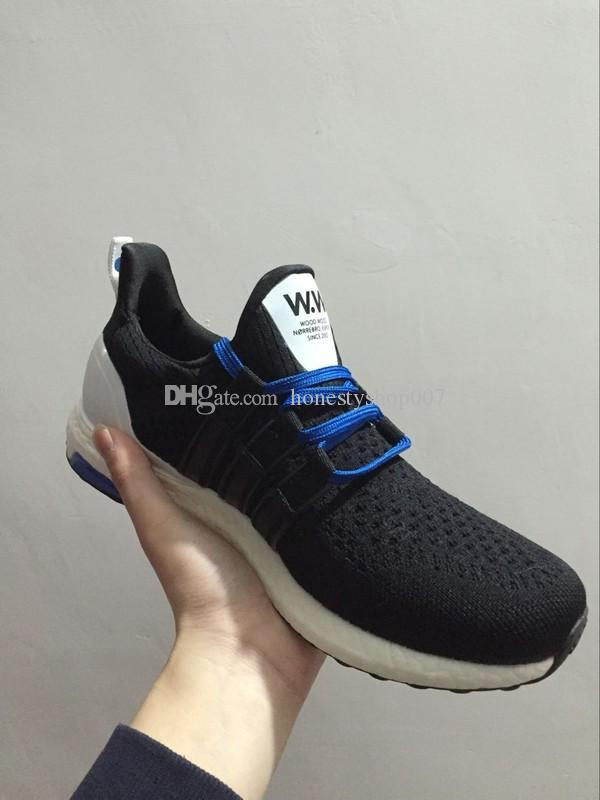 best website affca 5fcbb White/Black Color 2016 High Quality 1:1 Consortium X Wood Wood Ultra Boost  Running Shoes For Men And Women AF5778 AF5779 36 45 Free Shoes Discount ...