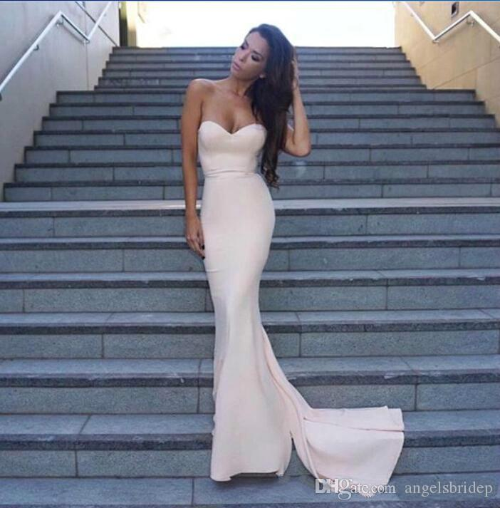Mermaid Ivory Bridesmaid Dresses Modern Style Glitter Sweetheart ...