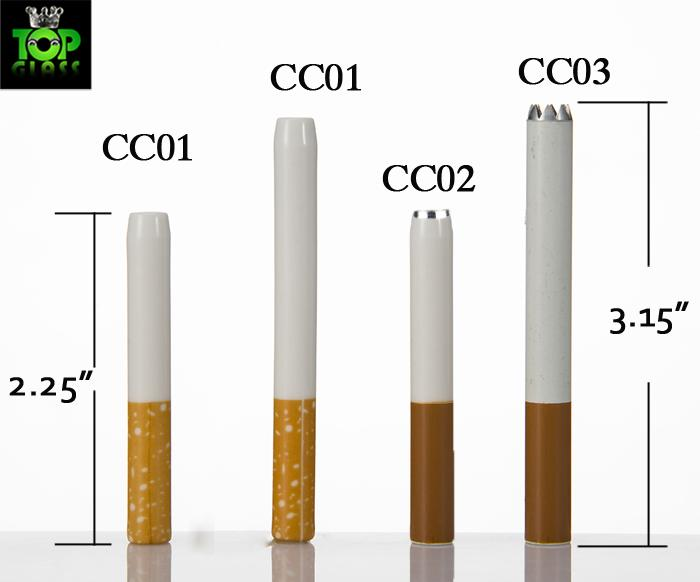 China Wholesale Cheap Food Grade Ceramic Cigarette Hitters Sparkle Coffee Yellow Filter Colored Smoking Pipe Metal Aluminum Free DHL