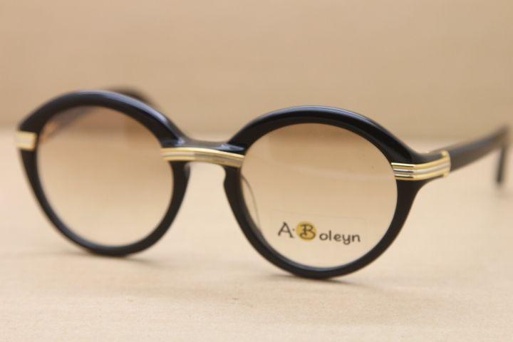 Occhiali occhiali da sole caldi sole originale rotondo plancia mens 1125072 formato telaio: 52-22-135mm occhiali da sole occhiali da sole occhiali 1991 c oro moda 2 gmmf