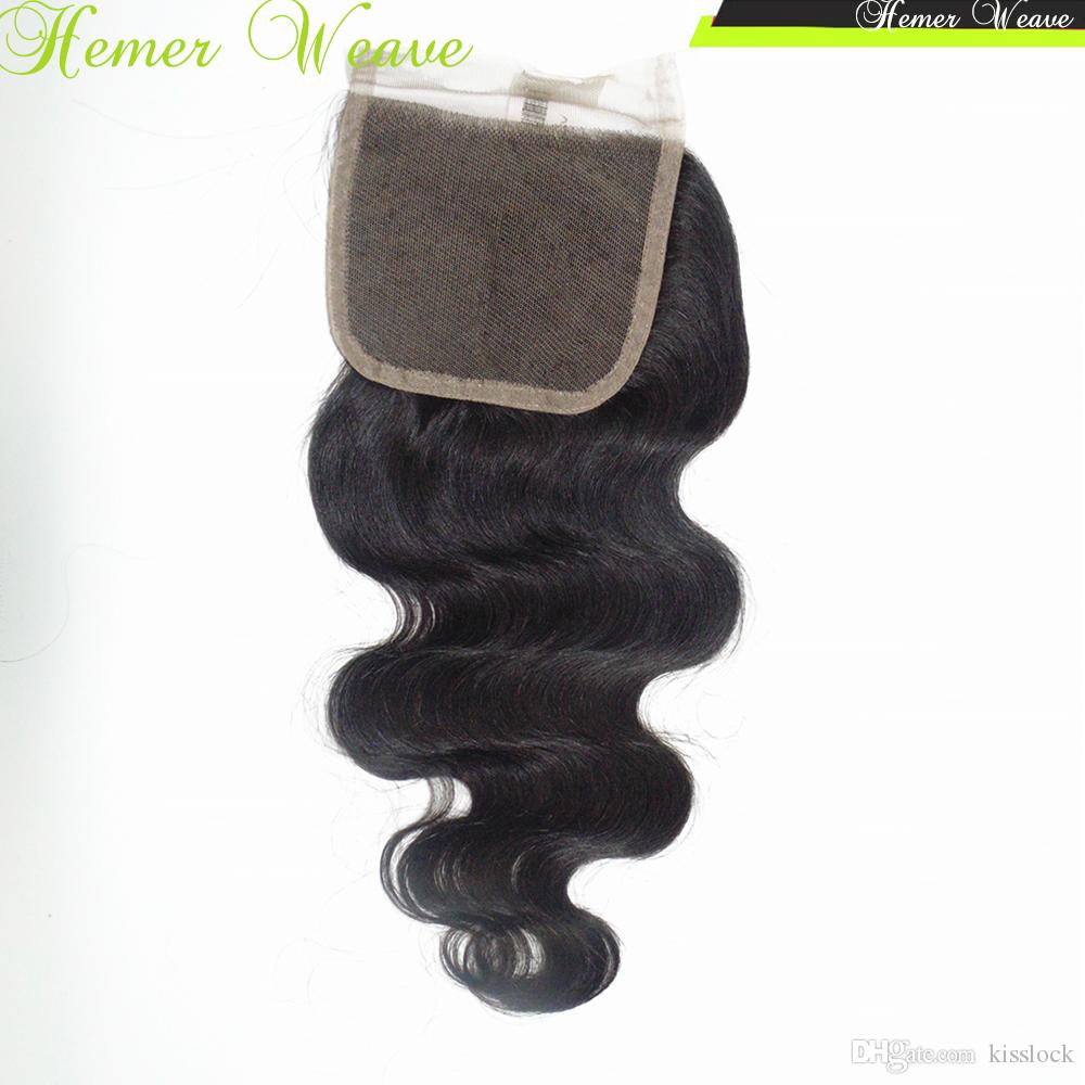 Hair Accessories Lace Top Closure Remy Virgin Indian Temple Hair French Lace Body Wavy 1 piece
