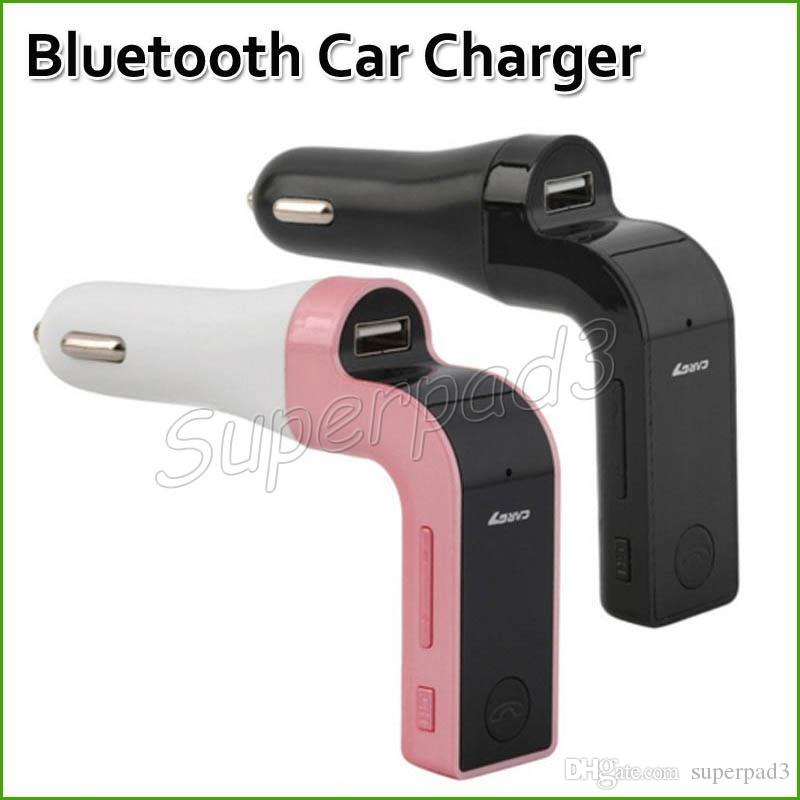 G7 Bluetooth Car Kit FM Transmitter MP3 Music Player For SD USB Charger For iPhone Smartphone Audio Player & Car Charger