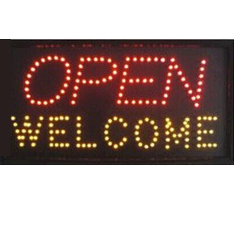 2019 direct selling custom led open sign 10*19 inch welcome letter sign led display sign wholesale