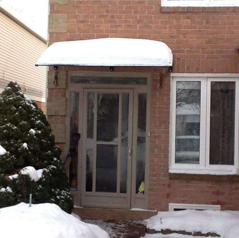 DS80240, 80x240cm, profondità 80, larghezza uso 240cm.professional per porte e finestre riparo, staffa di plastica bordo policarbonato tenda