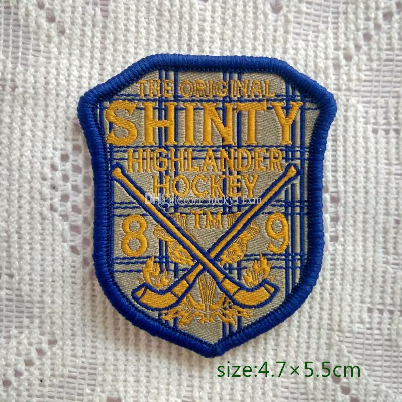 원래 Shinty Highlander 하키 배지 패치 셔츠에 바지 조끼 코트 스커트 가방 어린이 선물 아기 장식