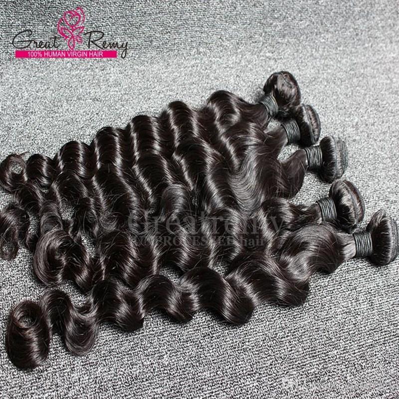 Gevşek bukle örgü demetleri derin ucuz bakire saç Brezilyalı saç örgüleri gevşek Brezilyalı Greatremy® perakende 1pc insan saç uzatma