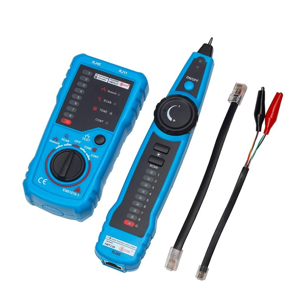 Haute Qualité RJ11 RJ45 Cat5 Cat6 Téléphone Fil Tracker Tracer Toner Ethernet LAN Réseau Testeur de Câble Détecteur Ligne Finder