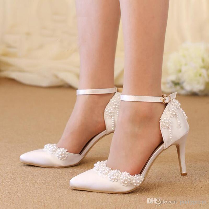 Scarpe Sposa Tacco Medio.Acquista Sandali Da Sposa Tacco Medio In Raso Rosso Scarpe Da