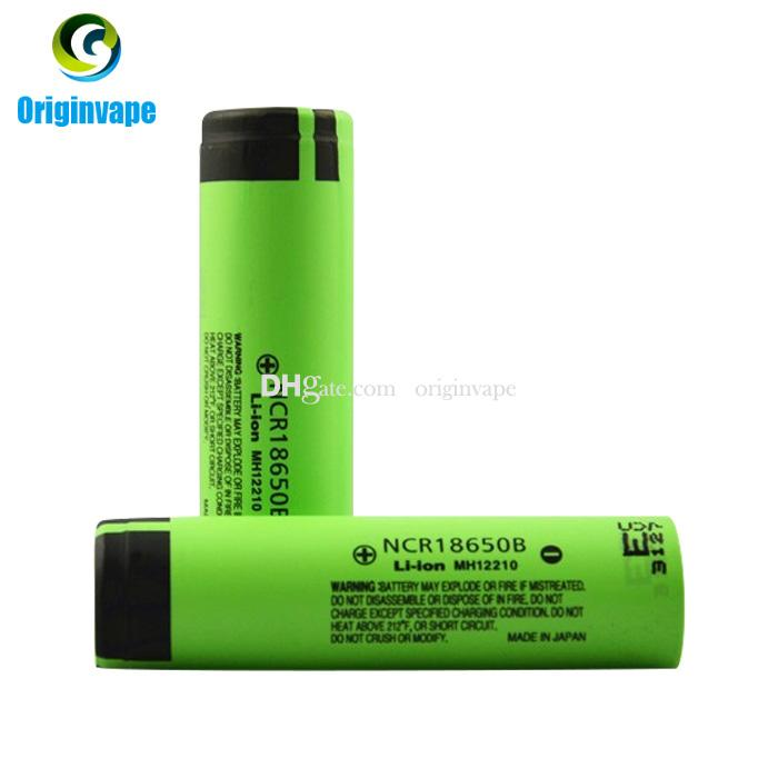 100% Authentic 3400mah 18650 Battery NCR18650B Lion Lithium Rechargeable Batteries Battery For E Cigarette/Flash Light Fedex Free Shipping