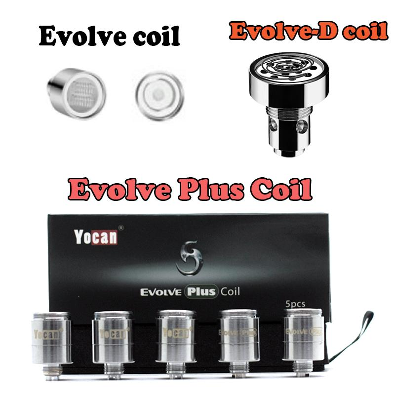 Originale Yocan Evolve Inoltre Bobine Evolve-D Evolve quarzo dual QDC ceramica ciambella Yocan Kit Bobine Yocan Bobine