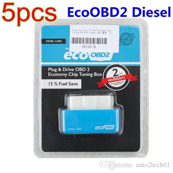 Livraison Gratuite! 5 pcs Plug and Drive EcoOBD2 Économie Chip Tuning Box pour Diesel Voitures 15% Carburant Économisez En Gros Meilleure Qualité