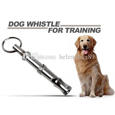 6.5cm Length Silver Color Metal Dog Adjustable Ultrasonic Sound Training Whistle 100pcs/lot Free Shipping