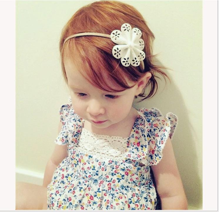 2016 Infant Baby Rompers Toddler Girl Floral Impression Combinaisons Enfants Vêtements D'été Mignons Bébés Dentelle Barboteuse Petites Filles One-Piece 4pcs / lot
