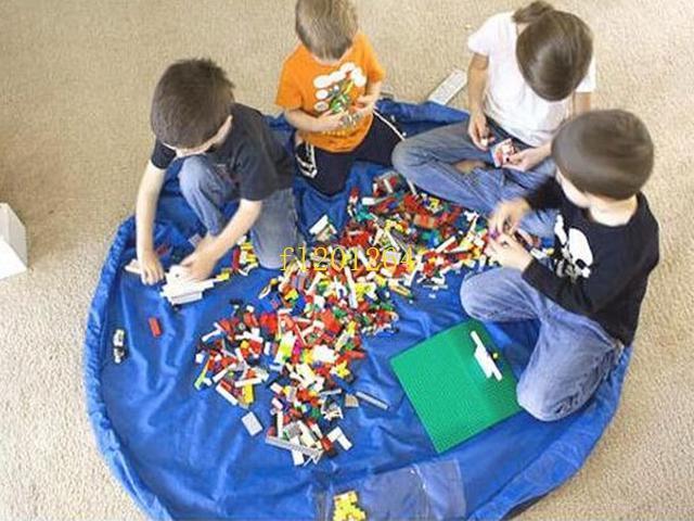 30pcs/lot Free Shipping 150cm Portable Kids Children Infant Baby Play Mat Large Storage Bags Toys Organizer Blanket Rug Boxes