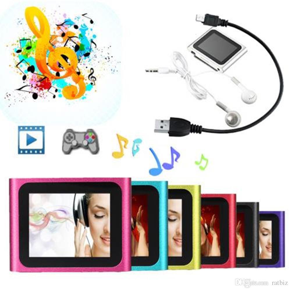 6 세대 클립 디지털 MP4 플레이어 1.8 인치 LCD 지원 TF 카드 MP3 FM 비디오 전자 책 게임 사진 뷰어 MP4 R-662 무료 배송