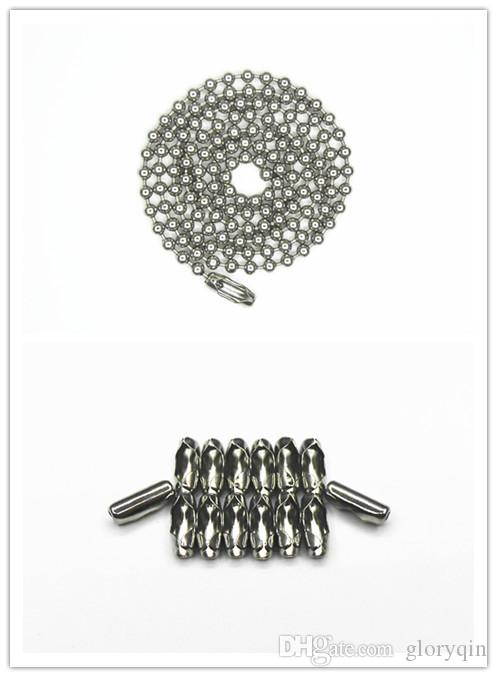 30 Inch Stainless Steel #6(3.2mm) Ball Chain Necklaces 10 Count beads chain necklace Jewellery making diy chain