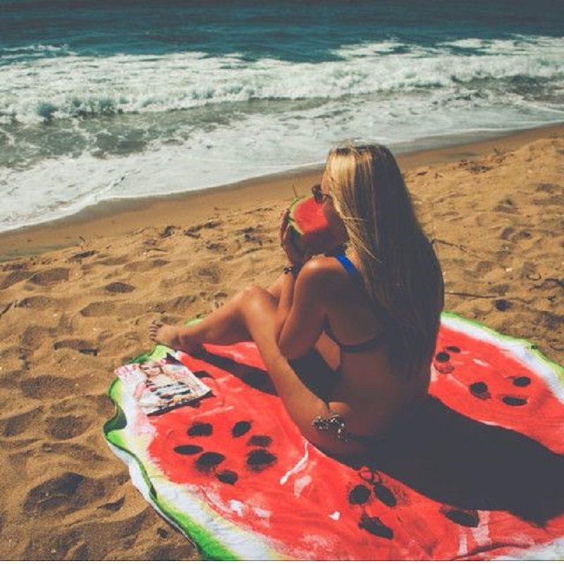 Новая европейская типографская печать Круглая пляжная матовая йога Одеяло Йога Мат Песочная ткань Солнцезащитная шаль Банное полотенце Пляжное полотенце