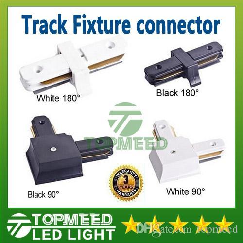 Connettore per binario elettrificato per guida a binario a LED Epacket per cavi ad angolo retto orizzontale Apparecchi di illuminazione per binari commerciali Accessori in alluminio