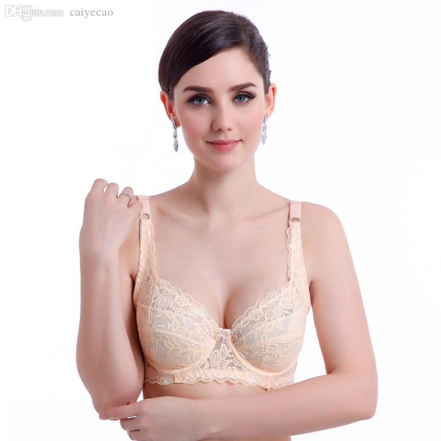 Al por mayor-JECKSION Bras para las mujeres Sexy Push Up Deep V Bra Sujetador con aros de encaje acolchado ultrafino con aros