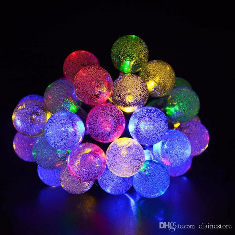 Solar LED String 6 Metre 30 LEDS Christmas Bubble Ball ights string Outdoor Christmas Party Decoration