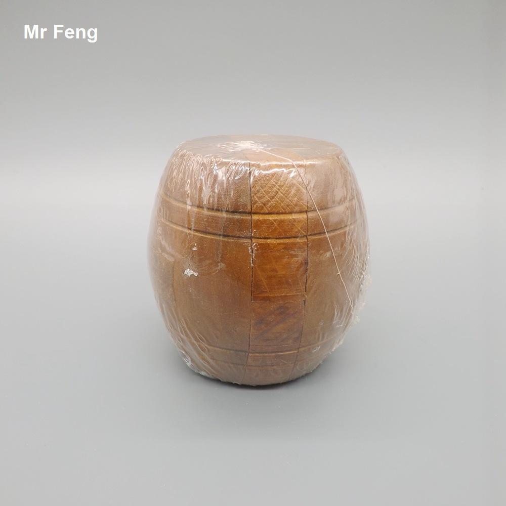 Retro Barrel Kong Ming Bloqueio Inteligência Puzzle Brinquedo Adulto Magia Gadget Mind Game