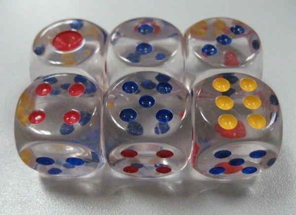16 мм Кристалл кости 6 сторонняя ясно кубики прозрачные бозоны дети настольная игра Дети образовательные игрушки партия напиток игра хорошая цена #N26